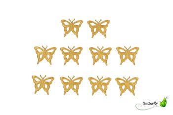 Applikation Schmetterlinge 10 Stk. (56/B) – Bild 4