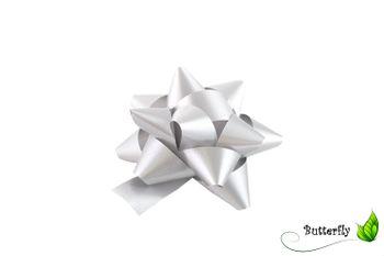 10 Geschenkschleifen Rosetten 8cm  – Bild 11