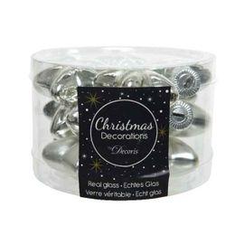 12 Weihnachtskugeln GLAS 4cm Sterne – Bild 15