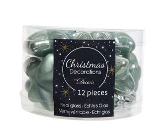 12 Weihnachtskugeln GLAS 4cm Sterne – Bild 18