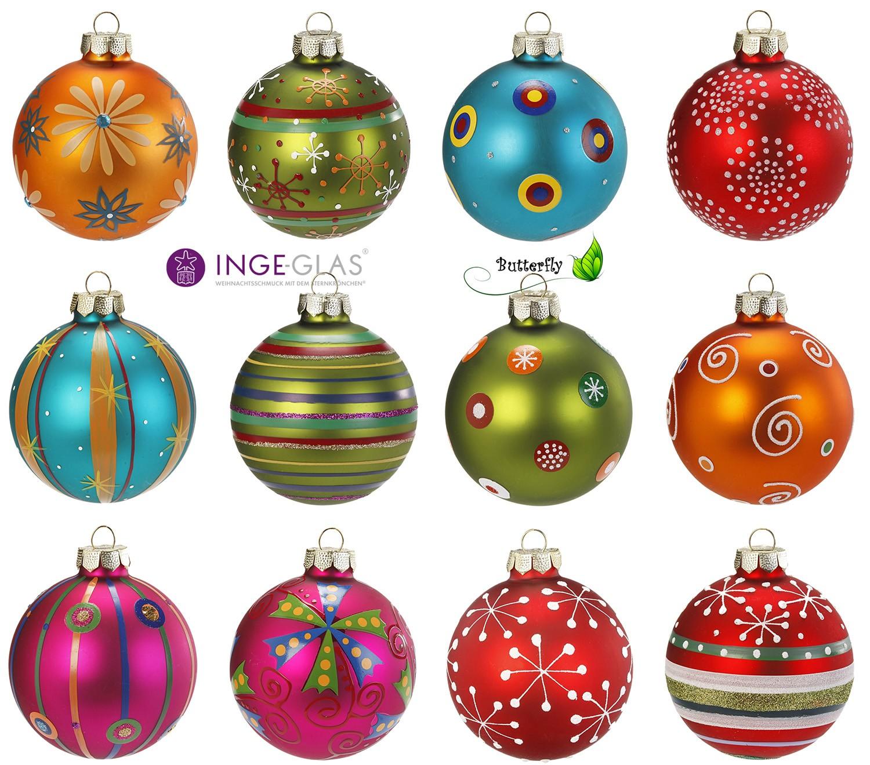 christbaumkugeln glas dekor mille fiori 4608 set 12 oder 20 saisonartikel weihnachten. Black Bedroom Furniture Sets. Home Design Ideas
