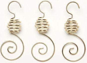 Christbaumkugel-Aufhänger Spiral mit Perle – Bild 2