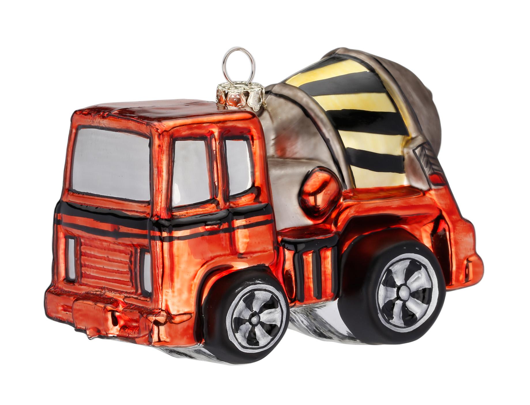 Christbaumschmuck Figuren Glas Transport Fahrzeuge Saisonartikel