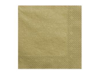 20 Servietten 2-lagig 33x33cm Gold – Bild 4
