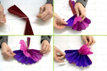 1 Papier Pompon 25cm – Bild 2