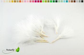 20 Marabu FLAUM Federn ca. 7-10cm – Bild 2