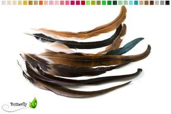 10 Hahnenfedern ca. 30-35cm braun
