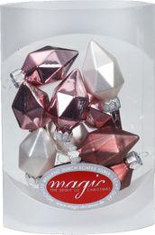 10 Diamanten 4,5cm Glas Weihnachtsschmuck – Bild 3