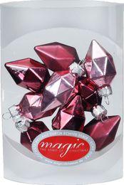10 Diamanten 4,5cm Glas Weihnachtsschmuck – Bild 5