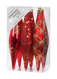 6 Stk. Weihnachtsschmuck Oliven Kunstoff 15cm  – Bild 3