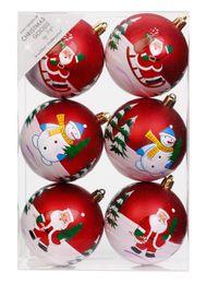 Dekorierte Weihnachtskugeln Kunststoff 6cm oder 8cm Motiven Schneemann – Bild 3