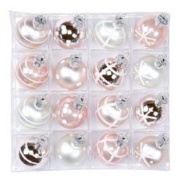 16 Weihnachtskugeln Glas 3cm Dekoriert  – Bild 2