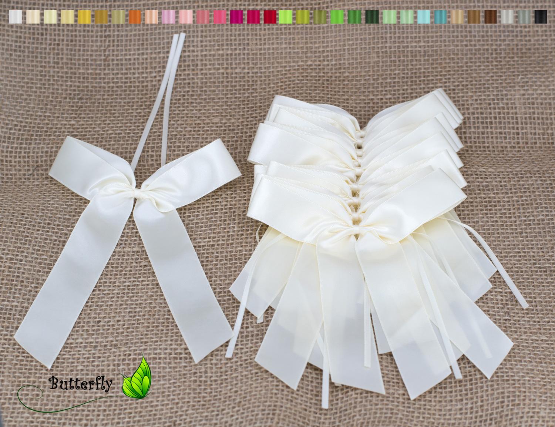 0,49€ Stk 10 Antennenschleifen Autoschleifen  Hochzeit Farbwahl Neu