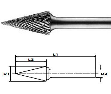SKM 12,7x25x70x8 Z6 HM-Frässtifte HFM, Form M, 12 mm