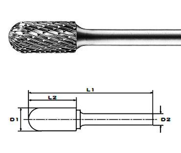 WRC 10x20x65x8 Z2 HM-Frässtifte HFC, Form C, 10 mm