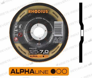 125x7x22,23 RS28 (Form 27) Schruppscheibe - Edelstahl, 25 Stück im Karton 208733