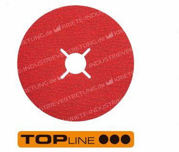 100x16 KFK, Korn 40, Fiberscheibe - Edelstahl, 25 Stück im Karton 303321