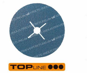 100x16 KFZ, Korn 40, Fiberscheibe - Edelstahl, 25 Stück im Karton 305519