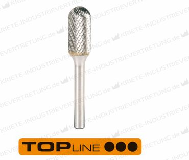 6x18x6x50 HF C, Z 6, Hartmetall-Frässtift Form C, 6 mm 1 Stück 305023