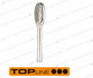 9,6x16x6x60 HF E, Z 6, Hartmetall-Frässtift Form E, 9,6 mm 1 Stück 305045