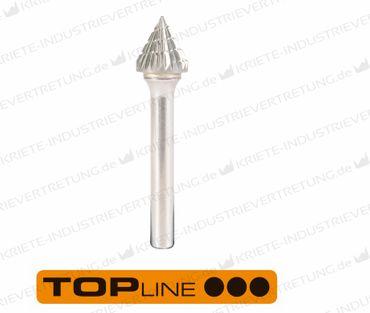 12,7x11x6x59 HF J, Z 3, Hartmetall-Frässtift Form J, 12,7 mm 1 Stück 305717