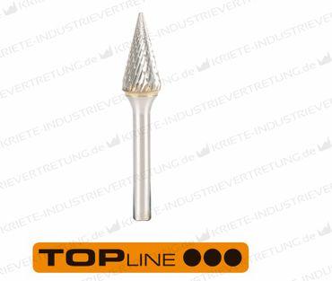 6,3x12,7x3x49 HF M, Z 6, Hartmetall-Frässtift Form M, 6,3 mm 1 Stück 305091