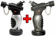 2 x Turbo Feuerzeug Hyper Torch mit Fuss