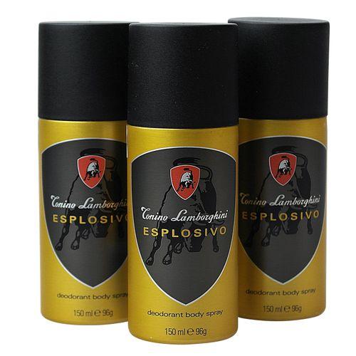 Tonino Lamborghini Esplosivo Deodorant Body Spray 150 ml 3er Pack (3x150 ml)