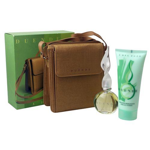 Jesus del Pozo Duende EDT Spray 100 ml + Body Lotion 200 ml + Handtasche