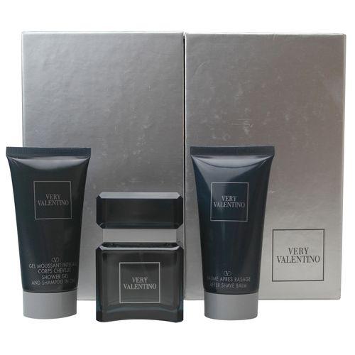 Valentino Very Pour Homme Eau de Toilette Spray 50 ml + Shower Gel 50 ml + After Shave Balm 50 ml