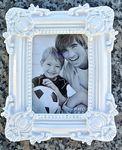 MT® nostalgie weißer Fotorahmen 11x14 Bilderrahmen Antik Polystone ( rechte ) 001