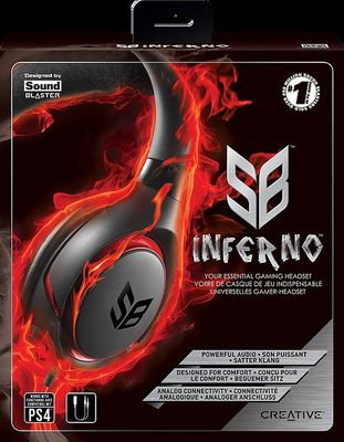 creative Sound Blaster INFERNO Gaming Headset für PC und PS4, black – Bild 2