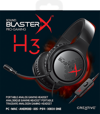 creative Sound BlasterX H3 Gaming Headset für PC, PS4 und XBOX One