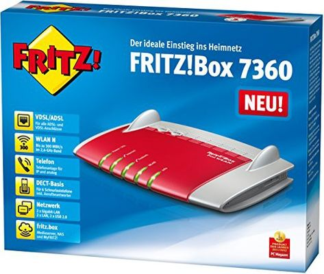 avm FRITZ!Box 7360 Wlan Router (VDSL/ADSL 300 Mbit/s DECT-Basis Media Server)