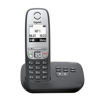 gigaset A415A Dect-Schnurlostelefon mit Anrufbeantworter, schwarz – Bild 1