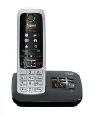Gigaset C430A Schnurlostelefon, TFT-Farbdisplay, Freisprecheinrichtung, Anrufbeantworter) schwarz - Plug-Type F (EU) – Bild 1