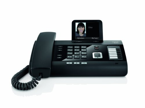 Gigaset DL500A schnurgebundenes Komforttelefon mit Anrufbeantworter und integrierter Dect Basisstation, schwarz - Plug-Type C (EU) DEUTSCH