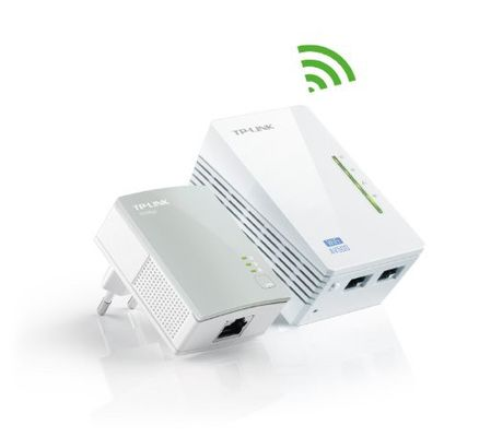 Tp-link 300Mbit/s AV500 Wireless Powerline Extender Starter Kit Plug-Type F (EU)