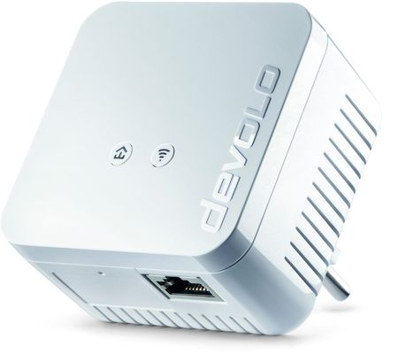 DEVOLO dLAN 550 WiFi Powerline (500 Mbit/s 1x Adapter im Set 1x LAN Port) - Plug-Type F (EU) – Bild 1