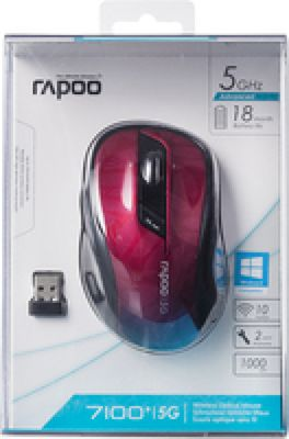 RAPOO 7100P Wireless Mouse, 7100P, 1000DPI, 5 GHz RF, USB – Bild 4