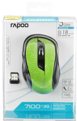 RAPOO 7100P Wireless Mouse, 7100P, 1000DPI, 5 GHz RF, USB