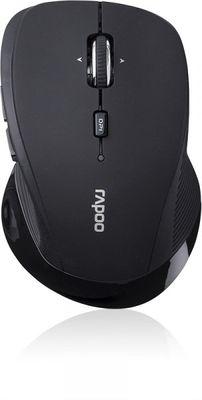 RAPOO 3900P Wireless Mouse, Schnurlose Lasermaus, Schwarz