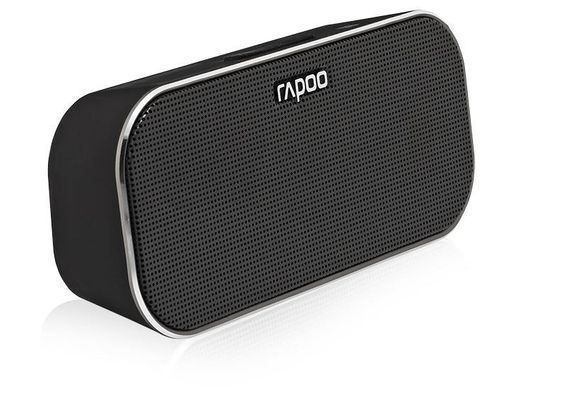 RAPOO A500 Mobile Speaker, 2x3 W, Bluetooth, NFC, AUX-in, 150 Hz - 20 KHz, Li-Ion, 10h, Black – Bild 1