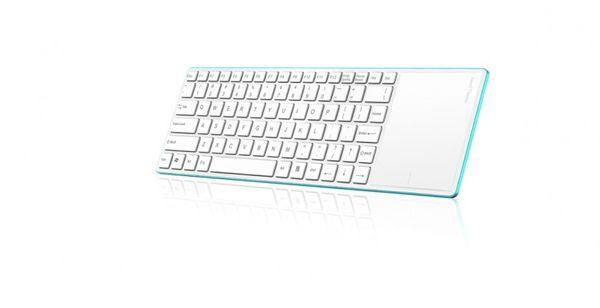 Rapoo E6700 Wireless Keyboard Bluetooth 3.0 blue (DEU Layout - QWERTZ) – Bild 2