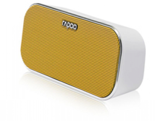 Rapoo A500 Mobile Speaker, 2x3 W, Bluetooth, NFC, AUX-in, 150 Hz - 20 KHz, Li-Ion, 10h, Yellow – Bild 2