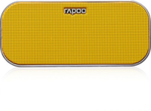 Rapoo A500 Mobile Speaker, 2x3 W, Bluetooth, NFC, AUX-in, 150 Hz - 20 KHz, Li-Ion, 10h, Yellow – Bild 4