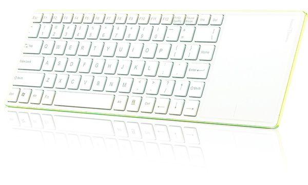 Rapoo E2800P Keyboard Wireless Touchpad Keyboard 5 GHz 82 Tasten Li-Ion 10m Grün (DEU Layout - QWERTZ) – Bild 2