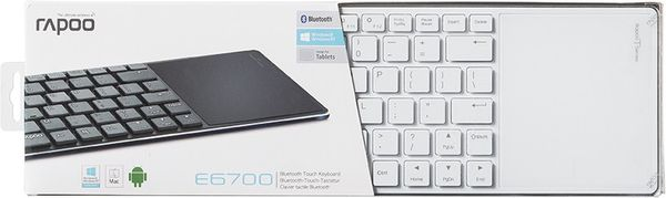Rapoo E2800P Keyboard Wireless Touchpad Keyboard 5 GHz 82 Tasten Li-Ion 10m Grün (DEU Layout - QWERTZ) – Bild 5