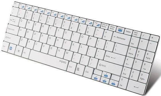 Rapoo E9070 Wireless Keyboard E9070 2.4GHz RF USB White (DEU Layout - QWERTZ) – Bild 4
