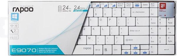 Rapoo E9070 Wireless Keyboard E9070 2.4GHz RF USB White (DEU Layout - QWERTZ) – Bild 8